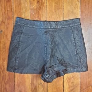 XXX Exclusive Vegan Leather Highwaisted Shorts